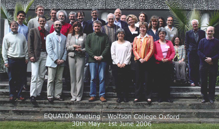 Attendees at the EQUATOR Network first international working meeting held in Oxford in May-June 2006
