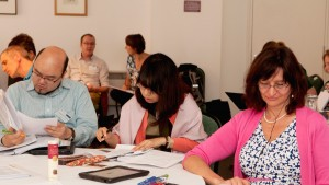 Group work during the publication school