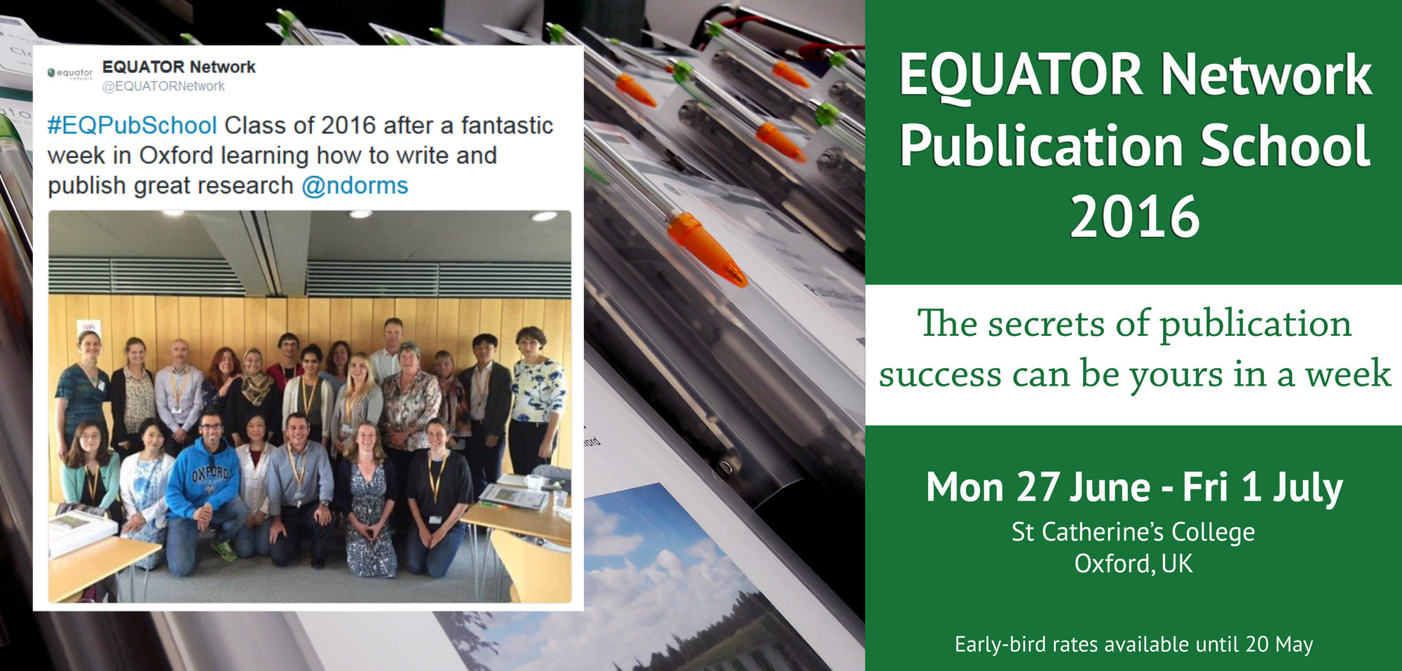 EQUATOR Network Publication School 2016 attendees