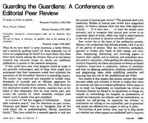 Extract from an editorial written by Drummond Rennie and published in JAMA in 1986.