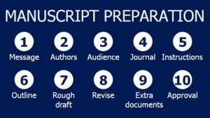 10 steps for manuscript preparation